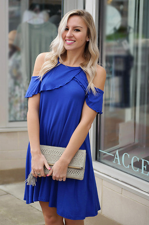 Yes You Will Swing Dress (Blue)