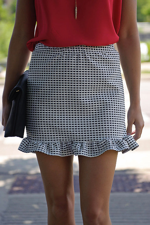 Keep It Going Gingham Skirt