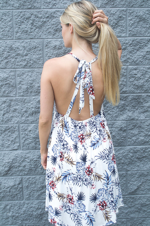 Bindi Tropical Print Dress