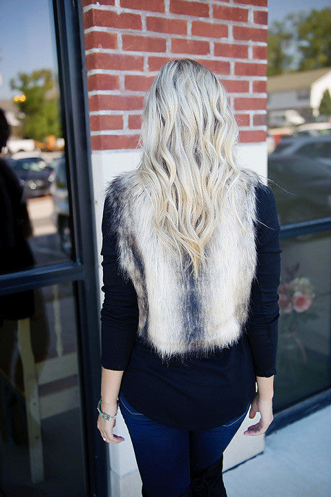 Jack by BB Dakota Loree Faux Fur Vest (Final Sale)