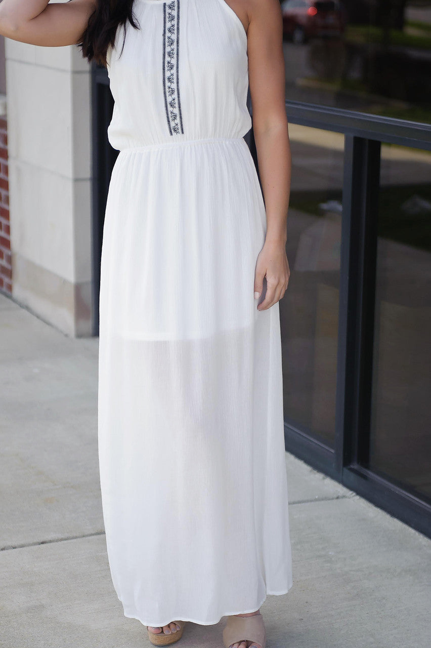 Greek Goddess Maxi Dress Piace Boutique