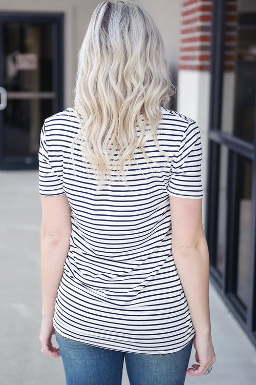 Days In The Shade Striped Tee (Final Sale)