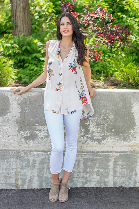 Joella Floral Top