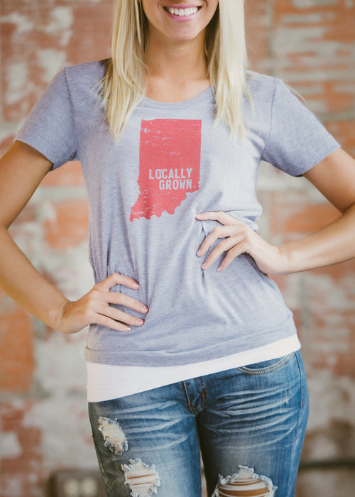 Locally Grown Tee - Vintage Grey FINAL SALE