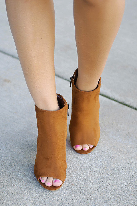 Envious Encounter Bootie - Chestnut (Final Sale)
