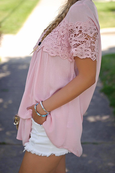 Ever After Lace Tunic Top