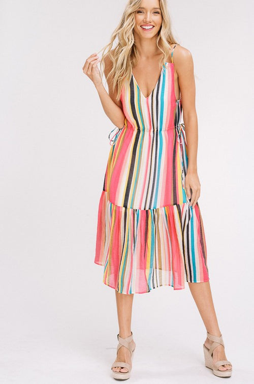 Top It Off Striped Midi Dress FINAL SALE