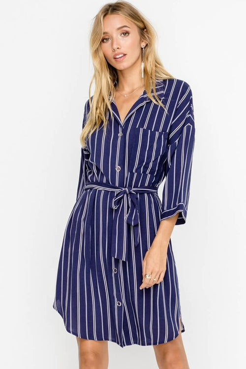 Got It Together Striped Midi Dress FINAL SALE