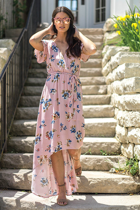 Marbella High Low Maxi Dress