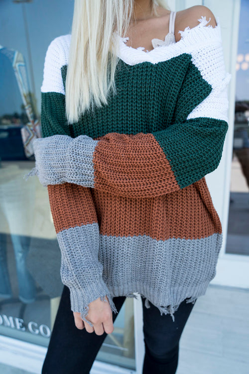 Ramy Color-Block Sweater