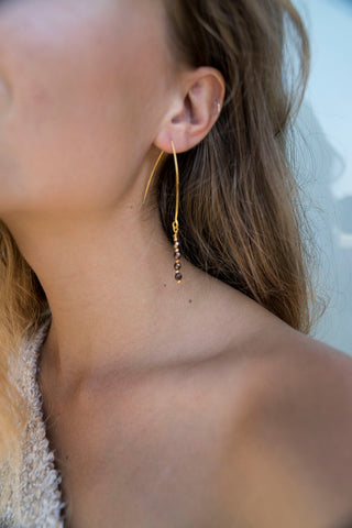 Gold Dipped Earring - Silver