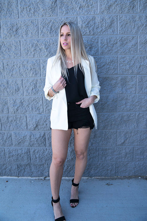 Skylar Blazer (Ivory) FINAL SALE