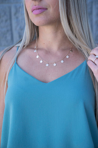 Kirstin Triple Layer Necklace -Black