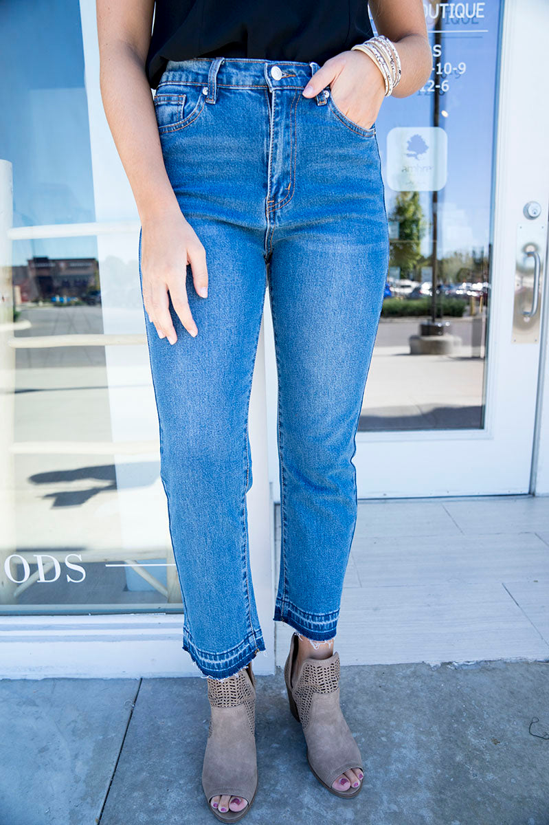 Finn High Rise Ankle Crop Jeans