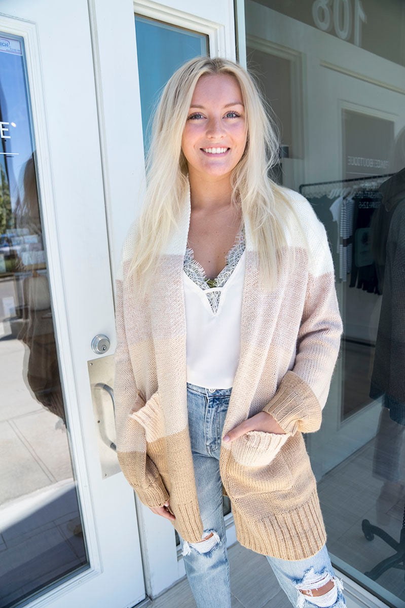 Caily Colorblock Cardigan