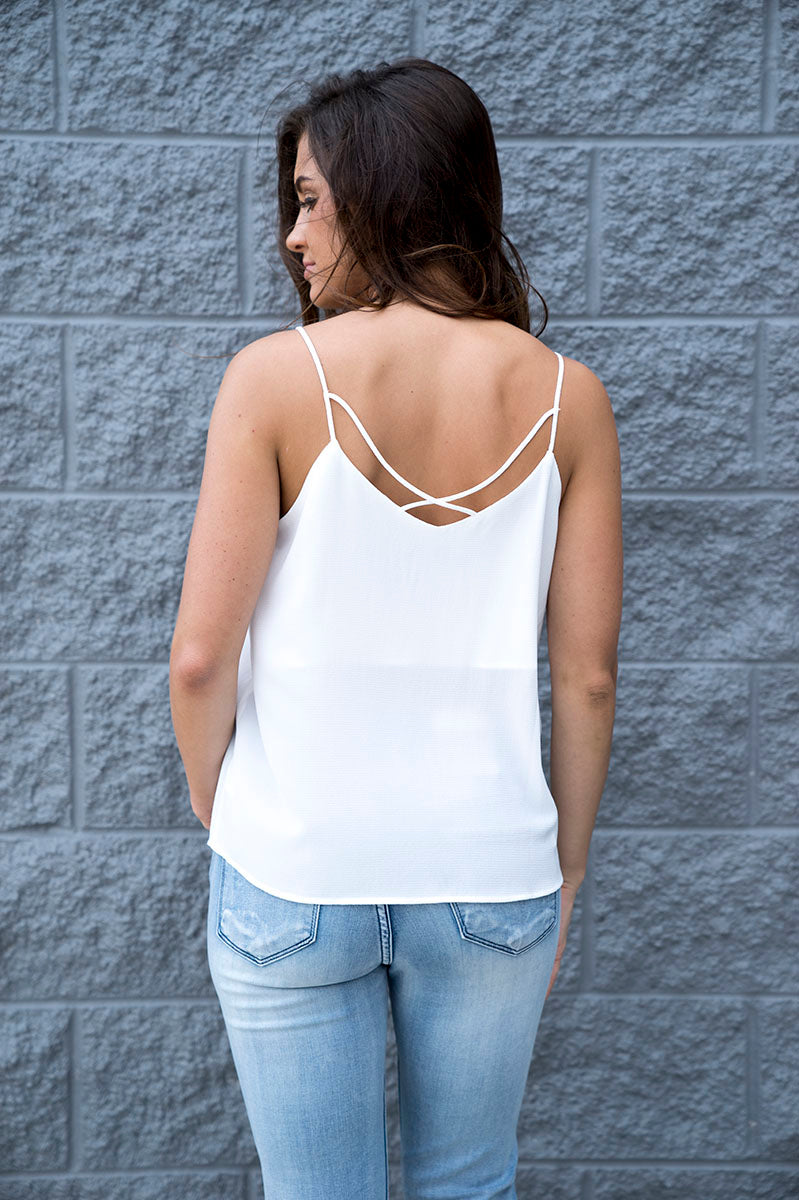 Luisa V-Neck Cami (White)