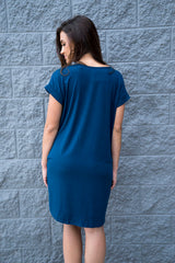 Keep Your Cool Dress -Teal