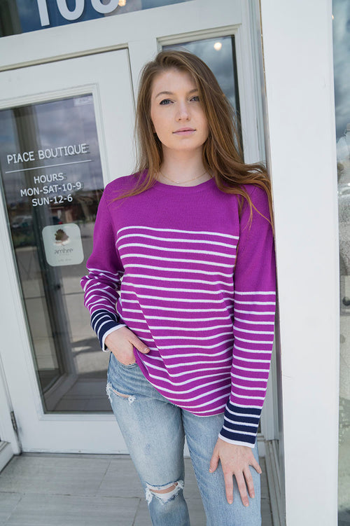 Parker Striped Sweater FINAL SALE