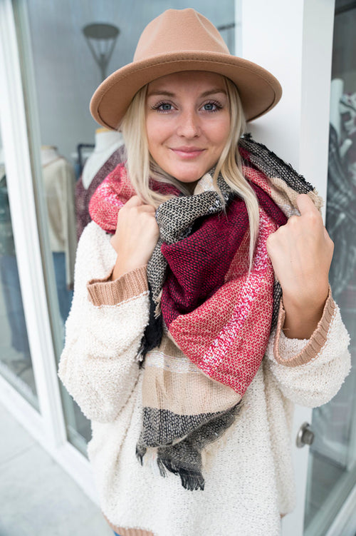Mountain Brick Blanket Scarf