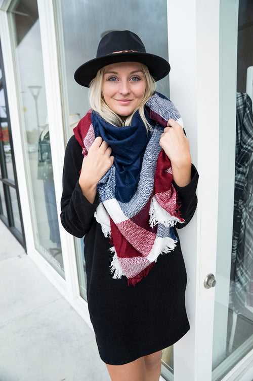 Midnight Redwood Blanket Scarf
