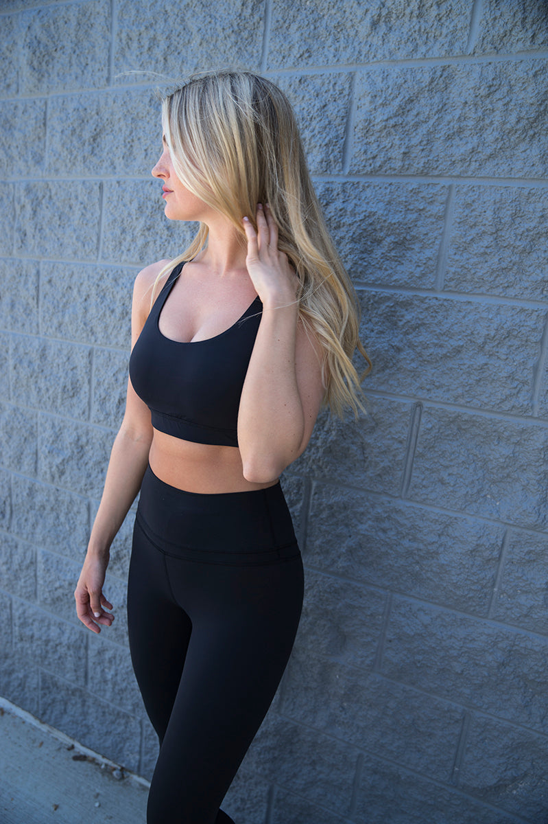 Strappy Longline Wire Free Sports Bra