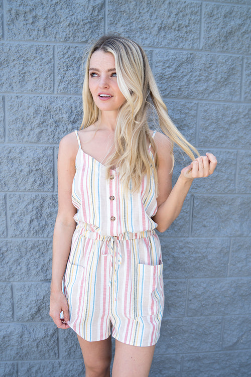 Aspen Striped Romper FINAL SALE