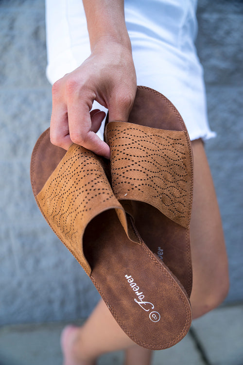 Clever Choice Faux Suede Sandal