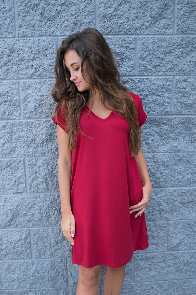 Keep Your Cool Dress (Ruby Red)