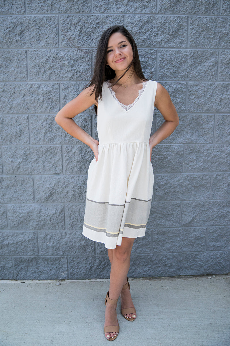 Loren V-Neck Fit & Flare Dress FINAL SALE