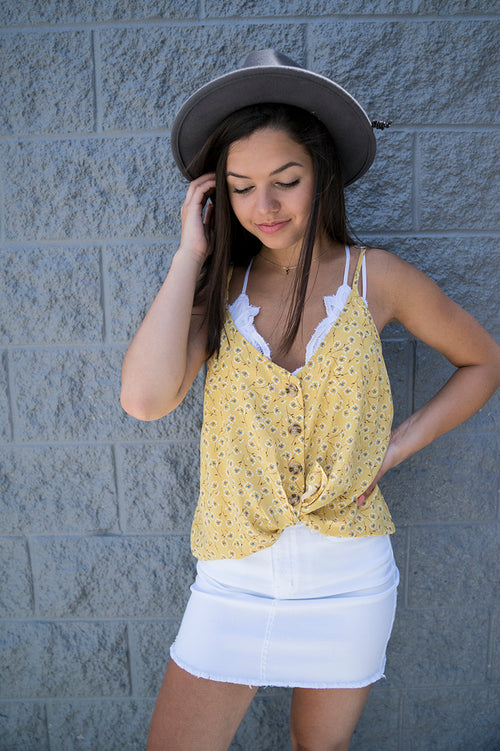 Arely Floral Tank