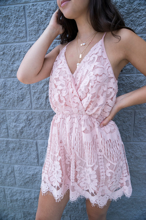 Lenora Lace Romper FINAL SALE