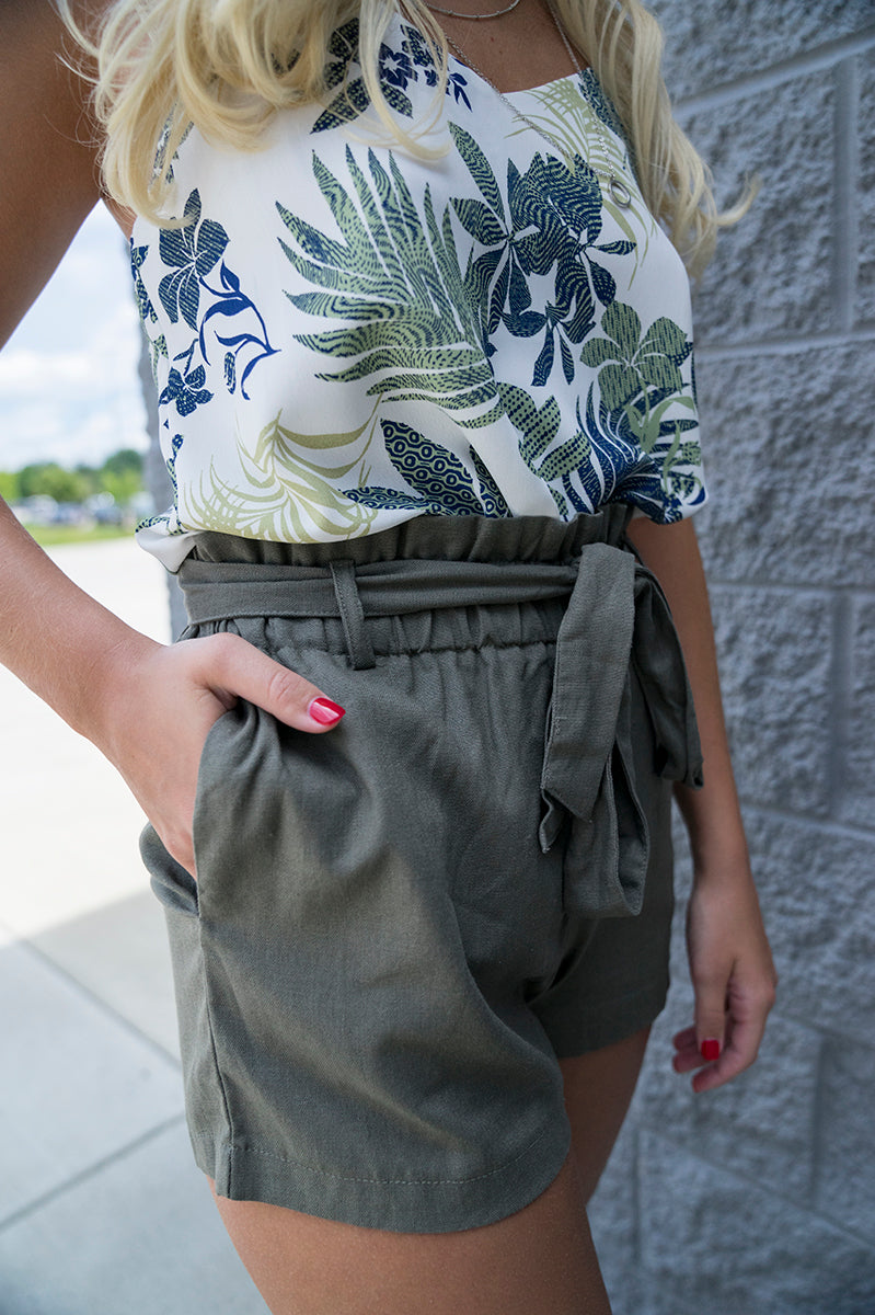 Sutton Paperbag Shorts