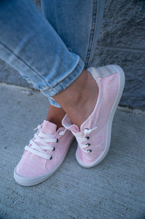 Kelly Canvas Sneaker (Pink)