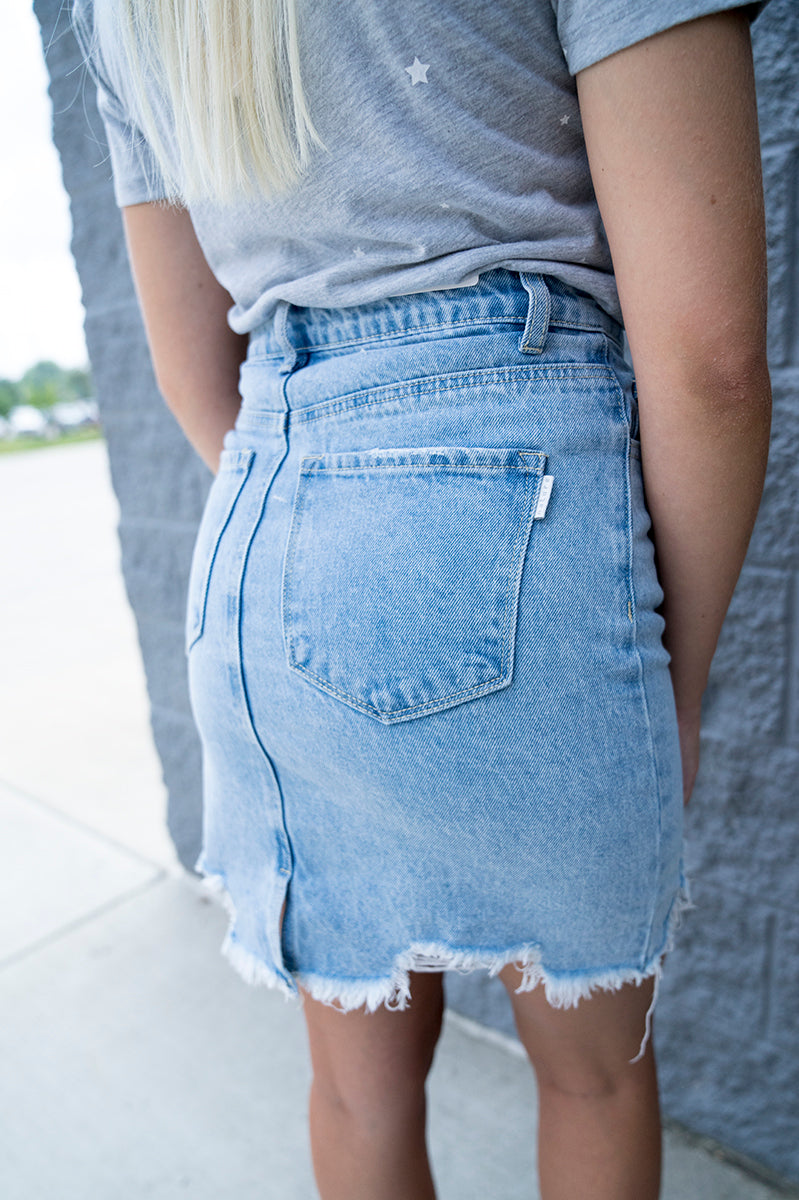 Audrina Denim Skirt