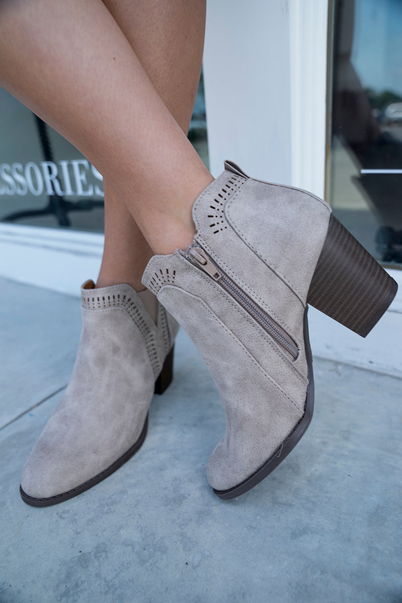 Tyra Laser Cut Bootie