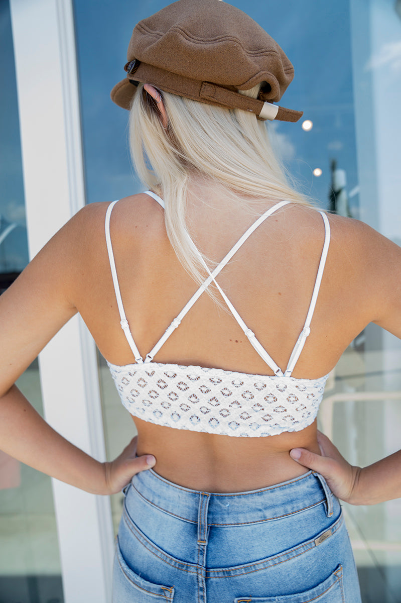 Major Crush Bralette - White