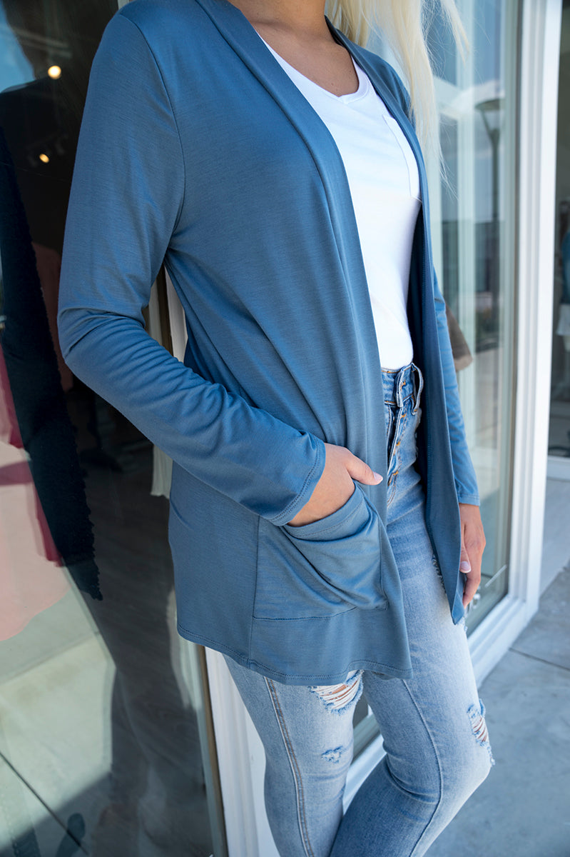 Tinsley Light Weight Cardigan (Blue) FINAL SALE