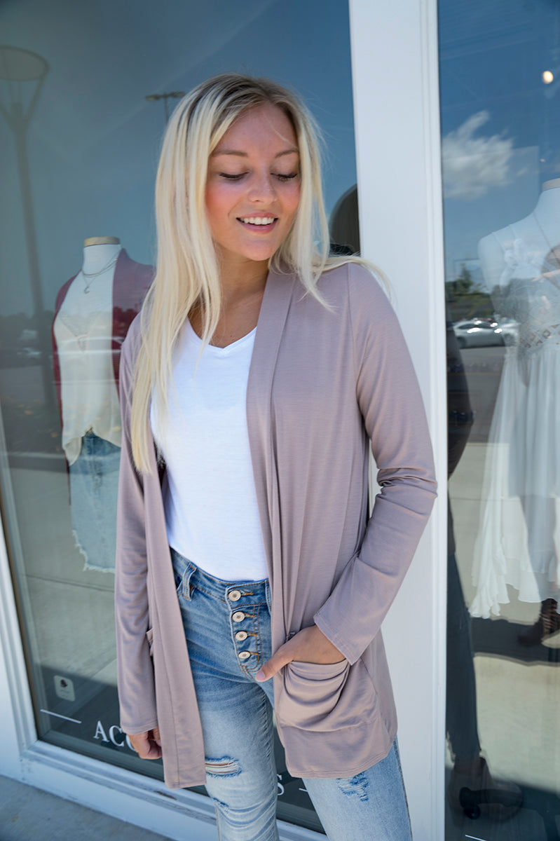 Tinsley Light Weight Cardigan (Taupe)