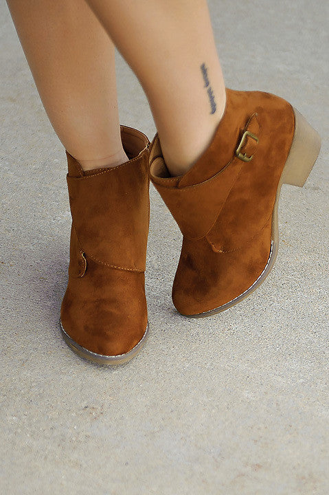 Lindy Faux Suede Bootie (Final Sale)