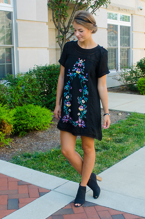 All Important A Line Floral Dress