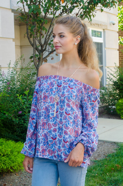 Be Bold Off Shoulder Top FINAL SALE