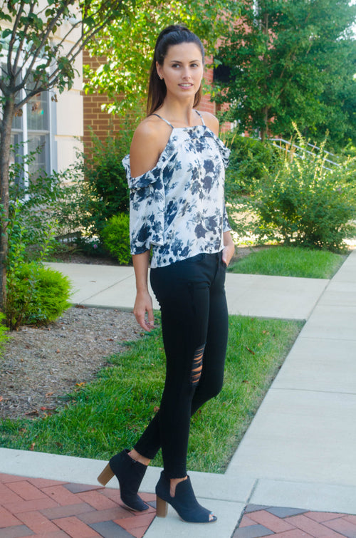 Know It All Floral Top FINAL SALE