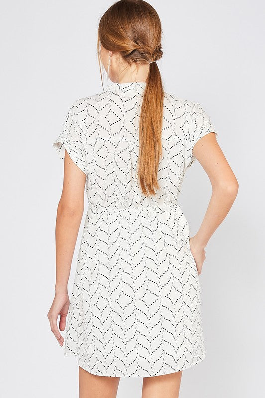 Laci Dotted V-Neck Dress