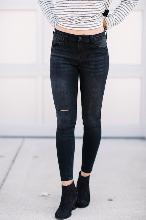 Celebrity Style Mid-Rise Jeans