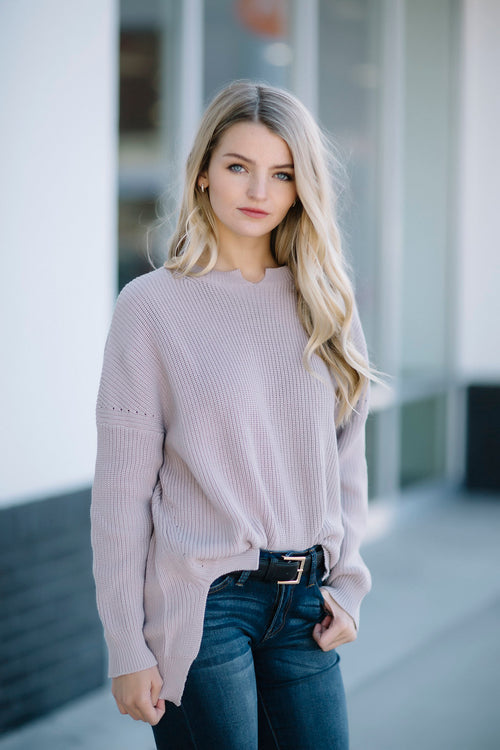 Fall Rhythm Sweater - Mauve FINAL SALE
