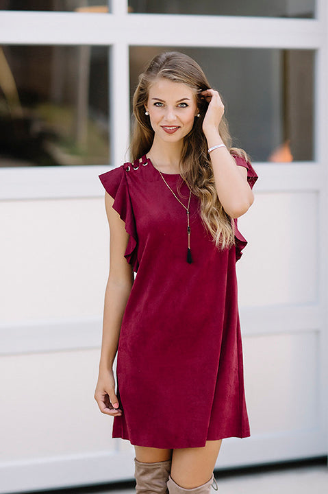 Venture Home Faux Suede Dress