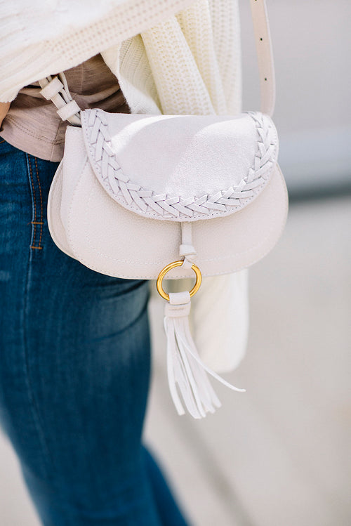 Maci Convertible Handbag - Ivory FINAL SALE