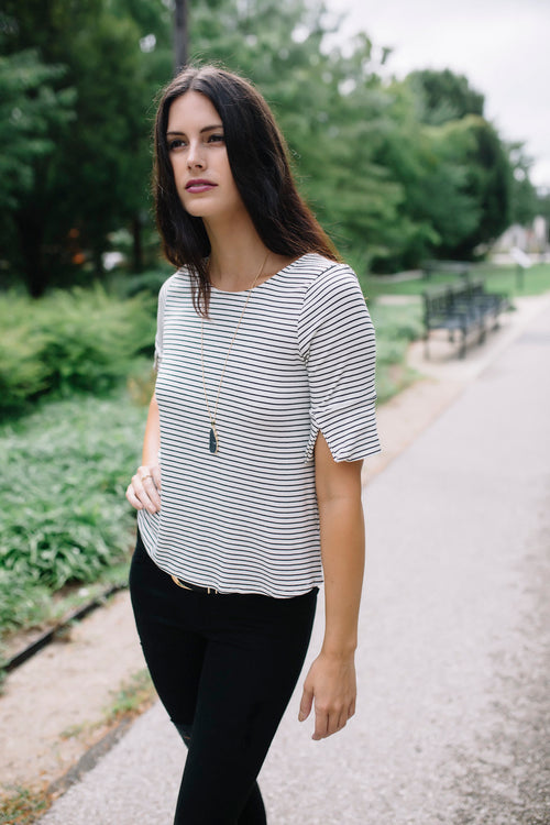 It's Easy Striped Top