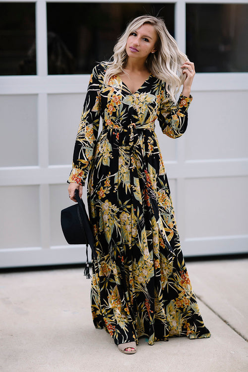 Turn It Up Floral Maxi