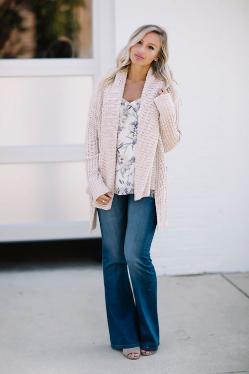 Chill Out Cardigan - Beige